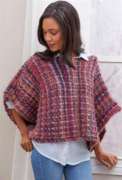 knitting a poncho for beginners boat neck easy poncho pattern allfreeknitting