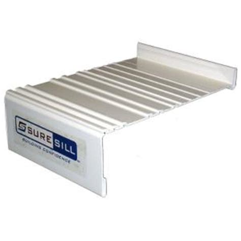 Window Sill Extension Suresill 6 9 16 In White Sloped Sill Pan Extension