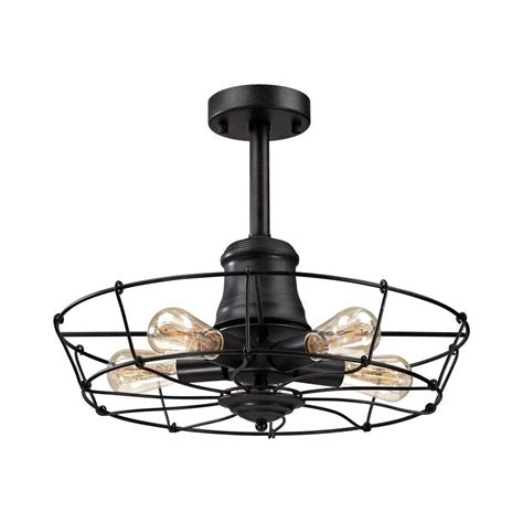 wrought iron flush mount lighting titan lighting glendora 5 light wrought iron black semi