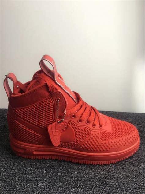 nike air force  high kpu  red men shoes febbuy