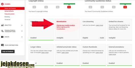 cara membuat youtube adsense cara daftar google adsense lewat youtube dengan mudah