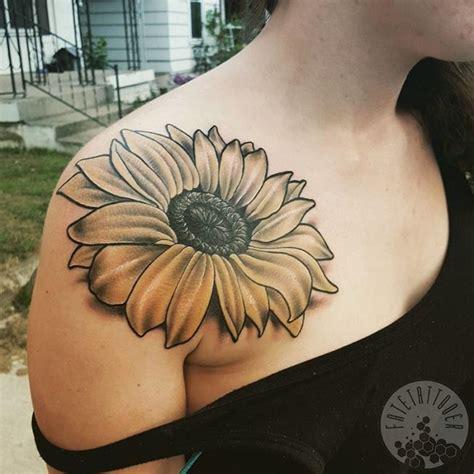 tribal sunflower tattoo design 90 best shoulder designs meanings symbols of