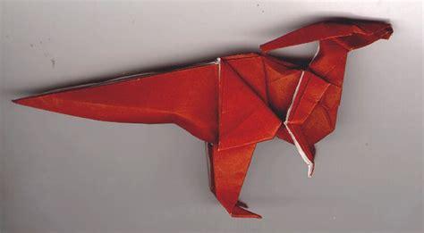 Origami Parasaurolophus - dinosaur origami