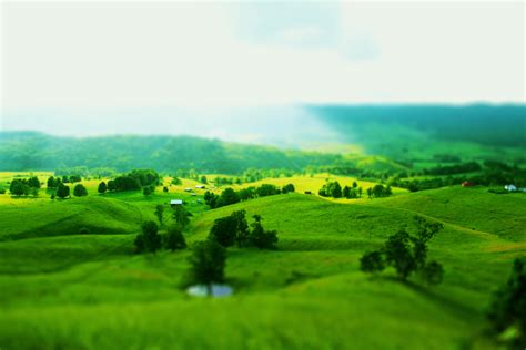 green landscaping beautiful green landscape tilt shift wallpaper