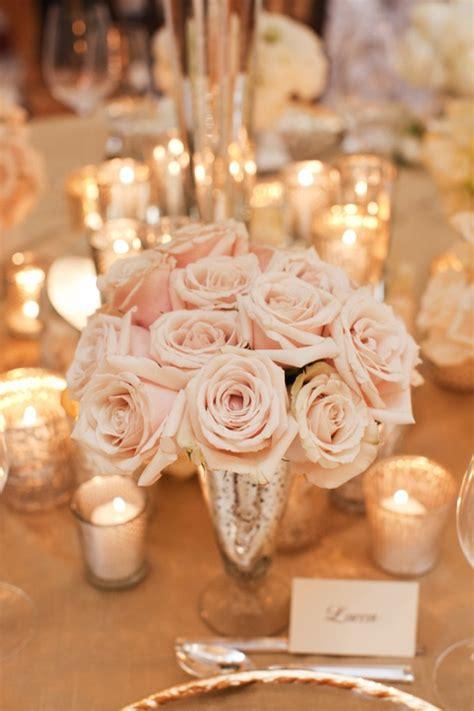 Blush And Gold Wedding Decor by Juliet Events Llc Blush Pink Centerpiece Mercury Glass