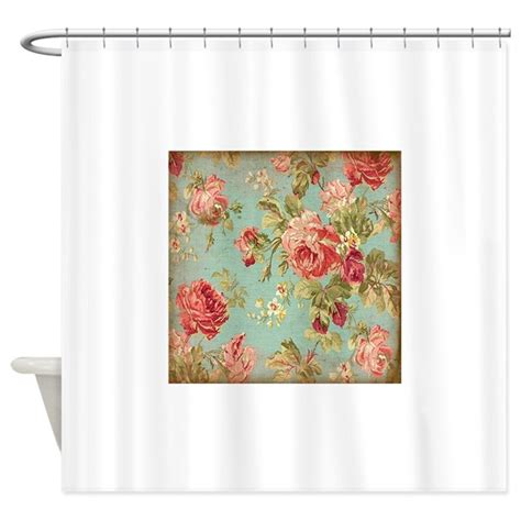 flower shower curtains beautiful vintage rose floral shower curtain by