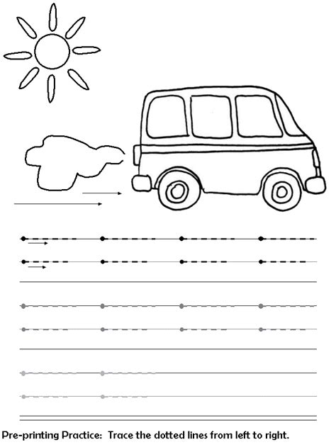 sleeping line pattern worksheets for kindergarten free coloring pages of tracing line vertical