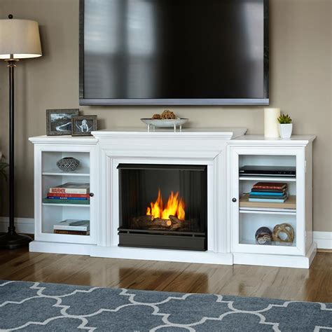 gel fireplace real frederick 72 in entertainment center ventless