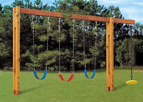 tall swing set cement in ground swing set 8 swing beam height