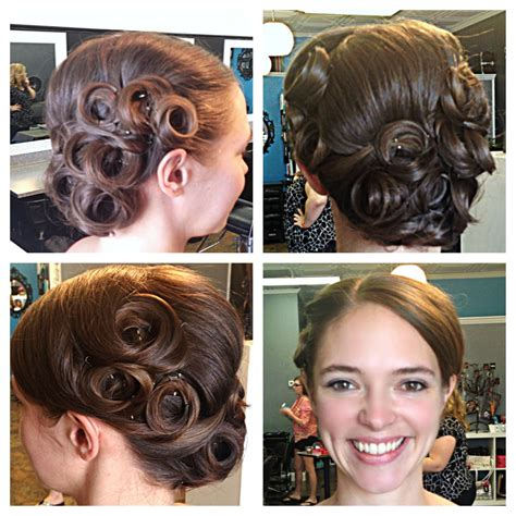 vintage pin curl updo hair by talie pin curl updo pin curls and updo