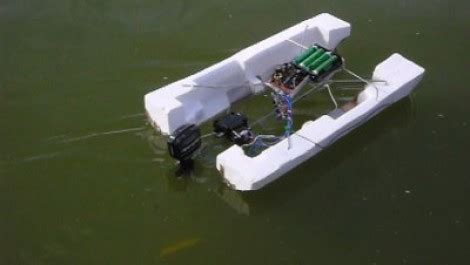 rc boat trailer diy rc pontoon from a toy car hackaday