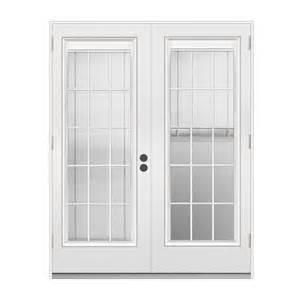 Patio Door Blinds Between Glass Shop Reliabilt 71 5 In Blinds Between The Glass Primer White Steel Outswing Patio Door At