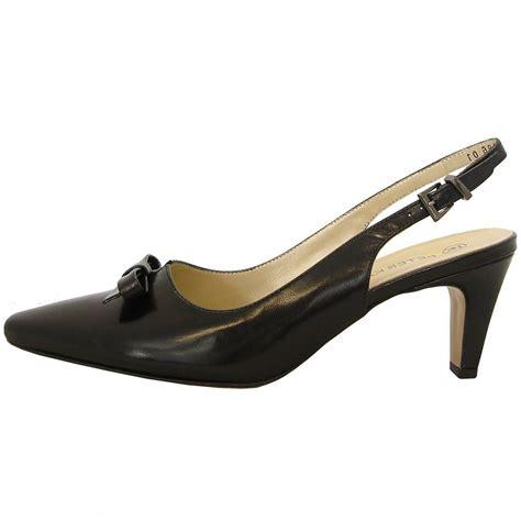 kaiser minden black leather low heel sling back