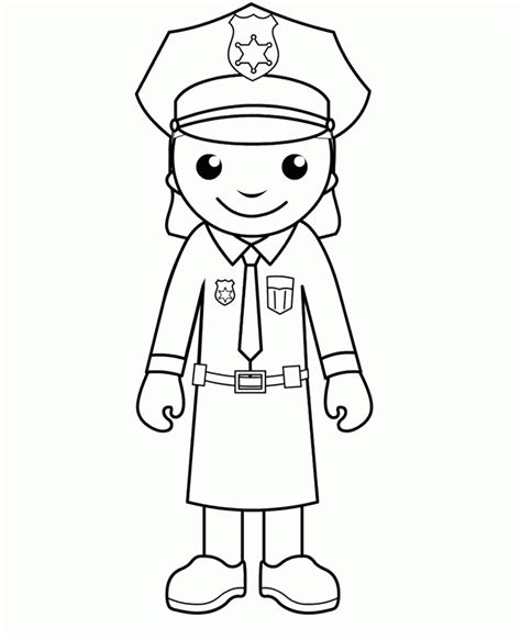 coloring pages with police police officer coloring page coloring home