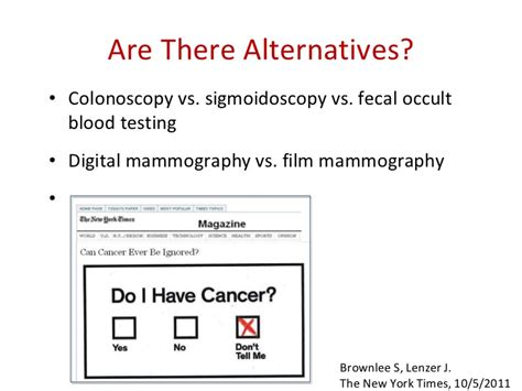 Stool Occult Blood Positive Treatment by Covering Screening Tests Do No Harm As A Reporter