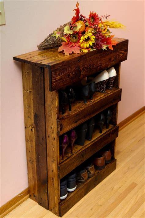 designs shoe racks in wood wooden pallet shoe rack ideas pallet wood projects