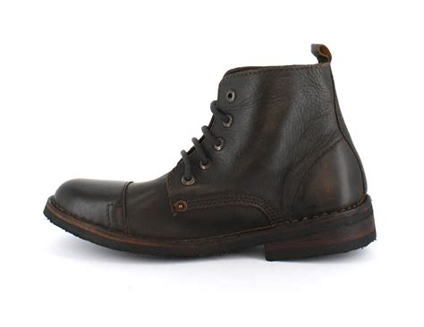 levis brown leather boots levis track original lace up leather boots brown ebay