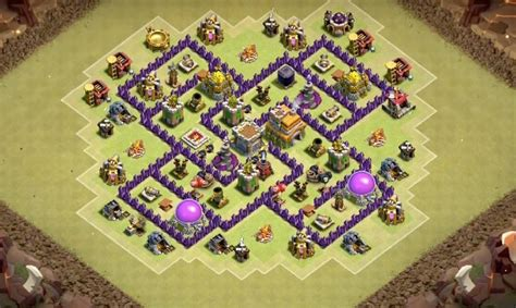 coc layout anti dragon th7 6 epic th7 war base layouts farming base layouts for 2016