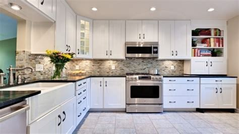white kitchen cabinets with black island options for bathroom countertops kitchen with white
