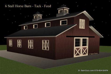 Barn Plans With Loft Apartment by Barn Plans 6 Stall Horse Barn Design Floor Plan