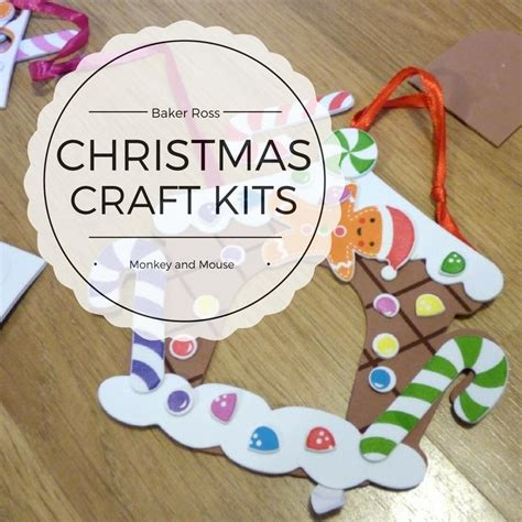 christmas craft kits with baker ross monkey and mouse