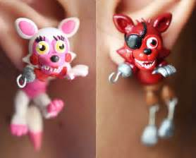 From etsy fnaf adventure foxy and mangle earrings polymer clay fnaf