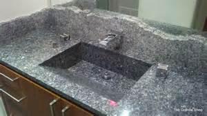 bathroom countertop with built in sink blue pearl granite vanity built in sink contemporary