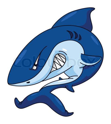 baby shark vector shark funny cartoon stock vector colourbox