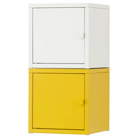 ikea cabinet organizers lixhult storage combination white yellow 25x50 cm ikea