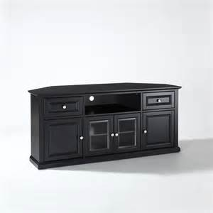 tv stands 60 inch 60 inch corner tv stand in black crosley furniture corner