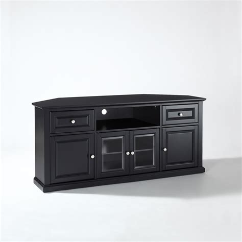 Cabinet For 60 Inch Tv by 60 Inch Corner Tv Stand In Black Crosley Furniture Corner
