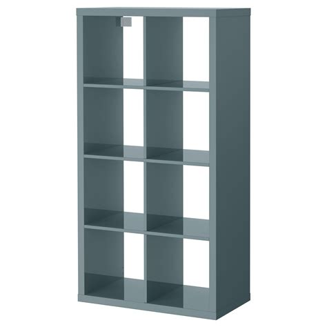 storage units ikea kallax shelving unit high gloss grey turquoise 77x147 cm