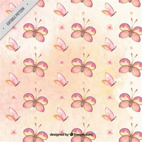 watercolor drawn pattern hand drawn watercolor butterflies pattern vector free