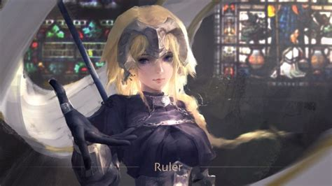 wallpaper jeanne darc ruler fate apocrypha blonde