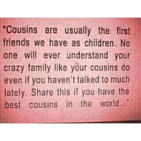 i remember as a kid me and my cousins were close nowadays it s just not the same especially