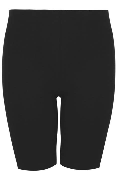 Pot Tawon No 27 black cotton essential legging shorts plus size 16 to 36