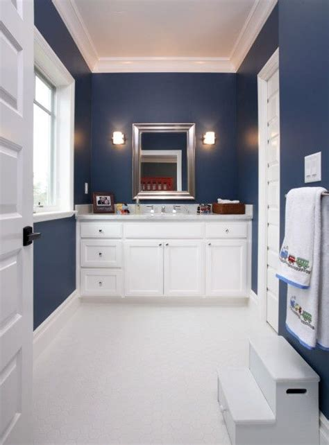 navy blue bathrooms navy blue and white bathroom for the home pinterest
