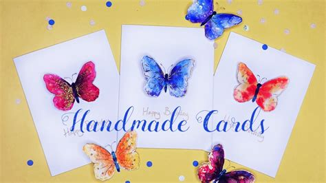 Handmade Cards Tutorials - how to beautiful handmade butterfly cards diy tutorial