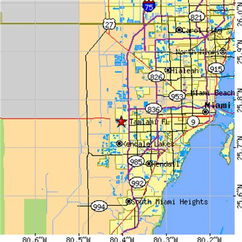 where is ta florida on a map tamiami florida fl population data races housing