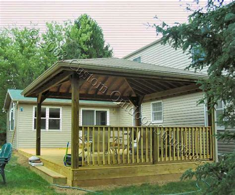 covered deck ideas custom covered structures dayton columbus oh custom