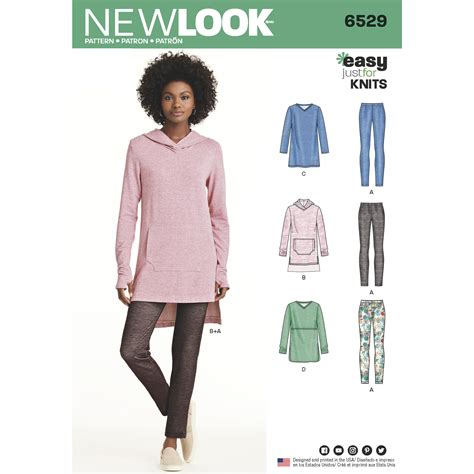 pattern review new look new look new look pattern 6529 misses knit tunics and