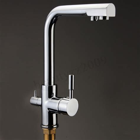 water for kitchen sink 3 way dual handles kitchen sink faucet water filter