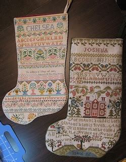 annie beez folk art: finished stocking | samplers and