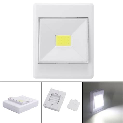 cob led wireless night light with switch battery powered wireless cob led closet night light l