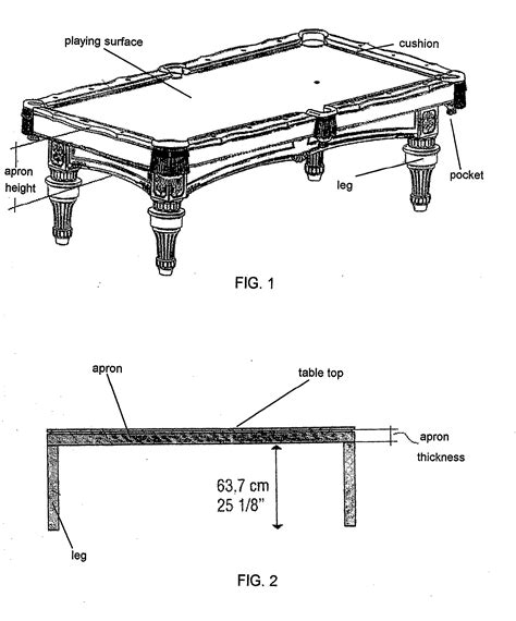 what is the height of a pool table patent us20100173718 convertible dining billiard table