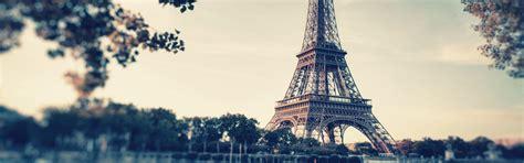 paris romantic aesthetic banner dusk eiffel tower