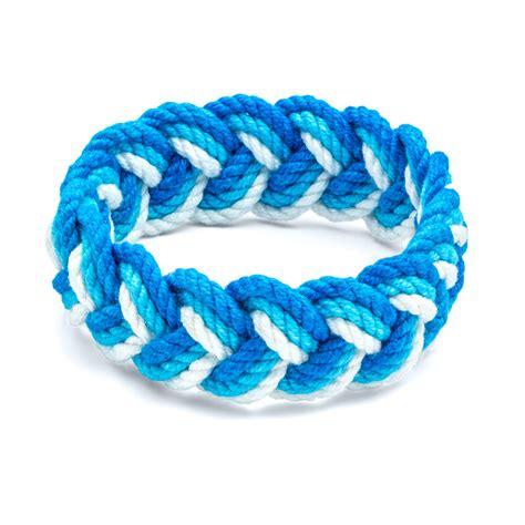 sailor knot bracelet aqua blue and white sailor bracelet