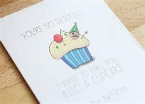 naughty and cute hand drawn funny birthday card cartoon
