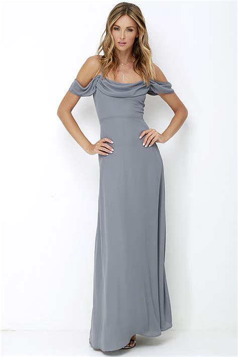 Dress Gray S M L Xl 16422 grey gown maxi dress grey dress 72 00