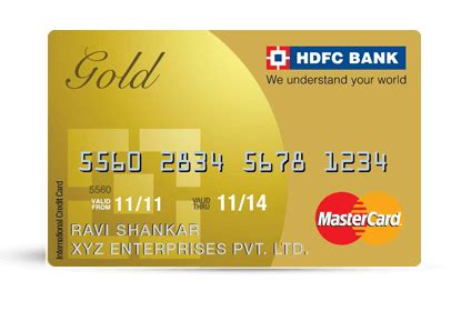 gold credit card | business gold credit card | hdfc bank